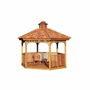 8 Foot Precut Hexagon Gazebo
