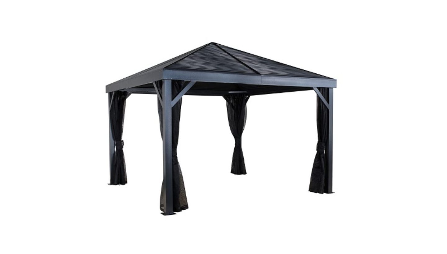 Gazebo In Rattan Sintetico.Gazebo 6 X 12 Decorazione